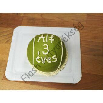 Teniszlabda torta